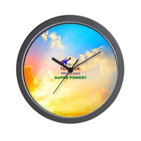 I'm a Teacher - Clouds Wall Clock