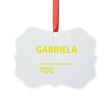 Cute Gabriela Ornament