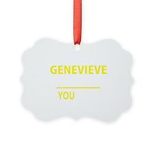 Funny Genevieve Ornament