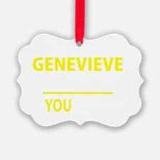 Cute Genevieve Ornament