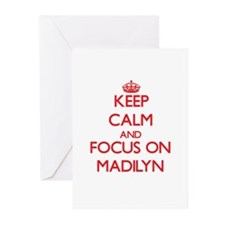 Keep Calm and focus on Madilyn Greeting Cards