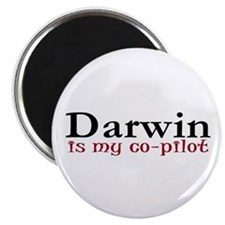 "Darwin is my co-pilot 2.25"" Magnet (10 pack)"