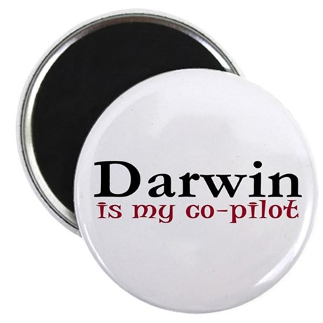 """Darwin is my co-pilot 2.25"""" Magnet (10 pack)"""