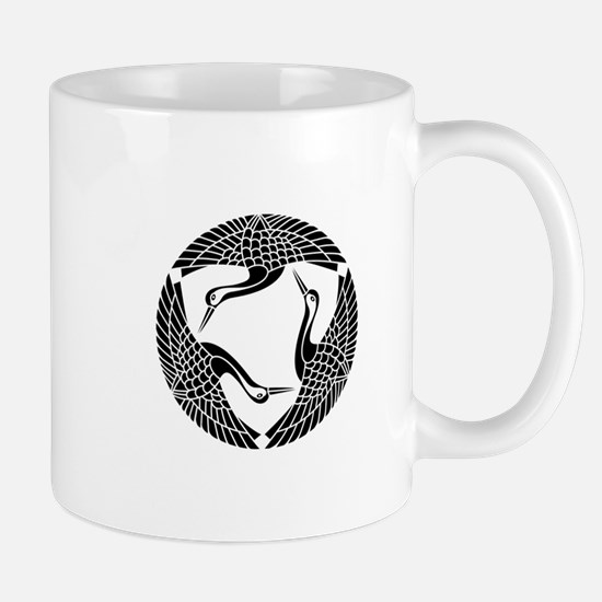 Circle of three cranes Mug