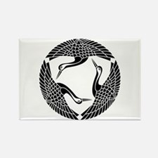 Circle of three cranes Rectangle Magnet