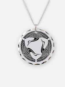 Circle of three cranes Necklace