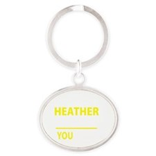 Unique Heather Oval Keychain