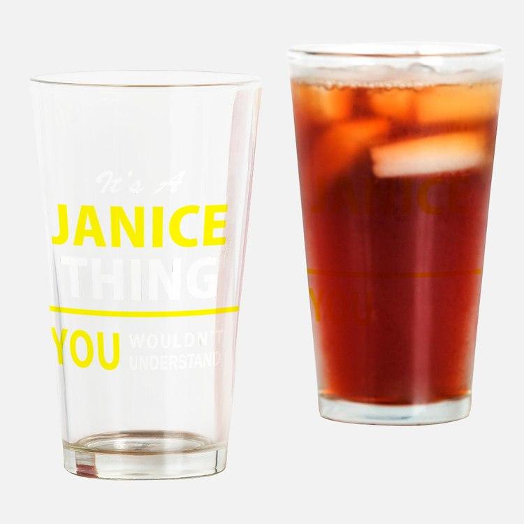 Cute Janice Drinking Glass