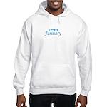 Due In January - Blue Hooded Sweatshirt