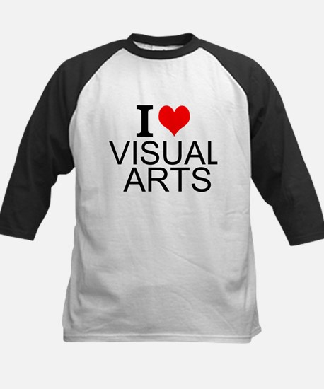I Love Visual Arts Baseball Jersey