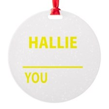 Cute Hallie Ornament