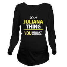 Unique Juliana Long Sleeve Maternity T-Shirt