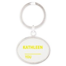 Cute Kathleen Oval Keychain