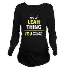 Unique Leah Long Sleeve Maternity T-Shirt