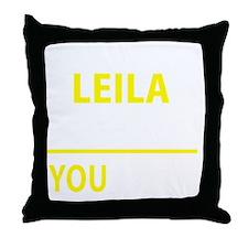 Funny Leila Throw Pillow