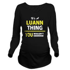 Unique Luann Long Sleeve Maternity T-Shirt