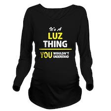 Unique Luz Long Sleeve Maternity T-Shirt