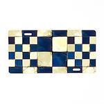 Cracked Tiles - Blue Aluminum License Plate
