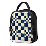 Cracked Tiles - Blue Neoprene Lunch Bag