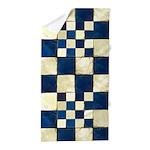 Cracked Tiles - Blue Beach Towel