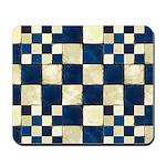 Cracked Tiles - Blue Mousepad