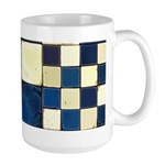 Cracked Tiles - Blue Large Mug