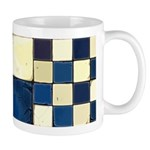 Cracked Tiles - Blue Mug