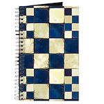 Cracked Tiles - Blue Journal