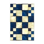 Cracked Tiles - Blue Mini Poster Print