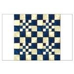 Cracked Tiles - Blue Large Poster