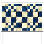 Cracked Tiles - Blue Yard Sign