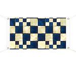 Cracked Tiles - Blue Banner