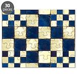 Cracked Tiles - Blue Puzzle
