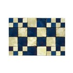 Cracked Tiles - Blue Rectangle Magnet (10 pack)