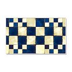 Cracked Tiles - Blue Car Magnet 20 x 12