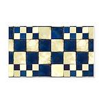 Cracked Tiles - Blue Rectangle Car Magnet