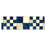 Cracked Tiles - Blue Sticker (Bumper 50 pk)