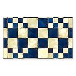 Cracked Tiles - Blue Sticker (Rectangle 10 pk)