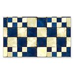Cracked Tiles - Blue Sticker (Rectangle 50 pk)