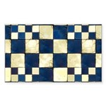 Cracked Tiles - Blue Sticker (Rectangle)