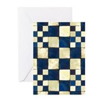 Cracked Tiles - Blue Greeting Cards (Pk of 10)