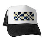 Cracked Tiles - Blue Trucker Hat