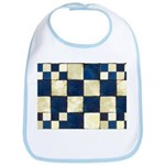 Cracked Tiles - Blue Bib