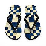 Cracked Tiles - Blue Flip Flops