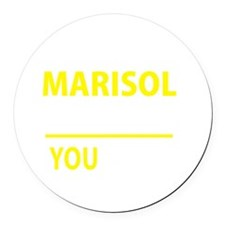 Funny Marisol Round Car Magnet