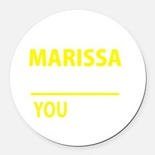 Cute Marissa Round Car Magnet
