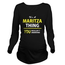 Unique Maritza Long Sleeve Maternity T-Shirt