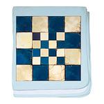 Cracked Tiles - Blue baby blanket