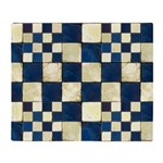 Cracked Tiles - Blue Throw Blanket