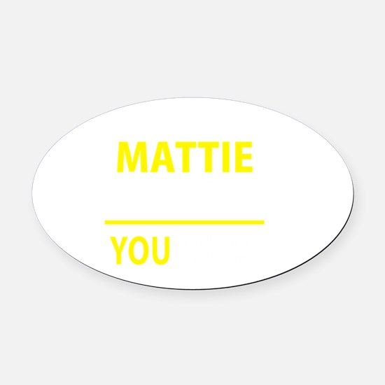 Unique Mattie Oval Car Magnet